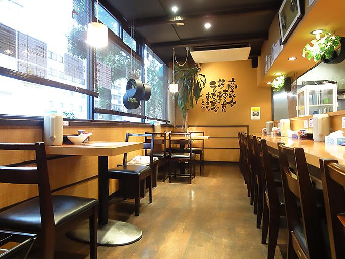 麺家喜多楽店内の様子