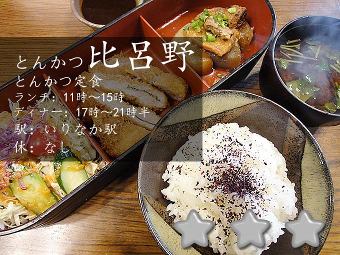 とんかつ比呂野名古屋市昭和区で味噌カツランチ