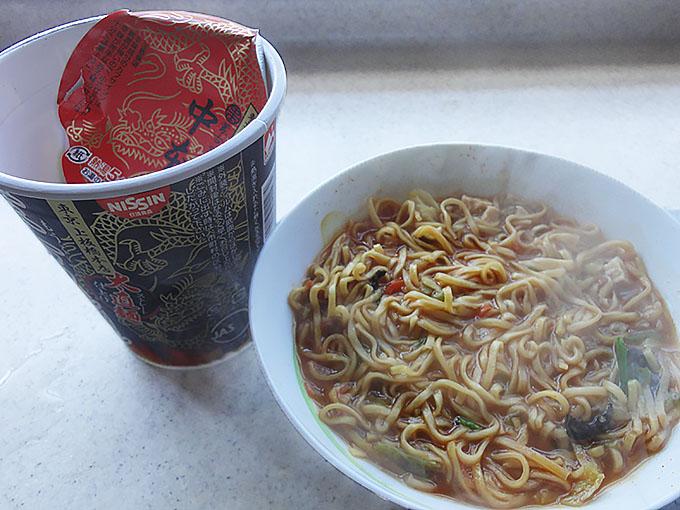 蒙古タンメン中本 カップ麺 セブンイレブンで販売の辛味オイルはほんとうに辛いのか